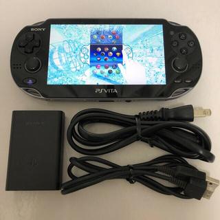 PlayStation Vita - PlayStation Vita クリスタル・ブラック PCH-1000 本体