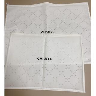 CHANEL - シャネル 布袋 ショッパー 不織布 2枚 オフホワイト