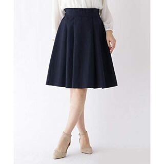 クチュールブローチ(Couture Brooch)のクチュールブローチ リボン付フレアスカート(ひざ丈スカート)