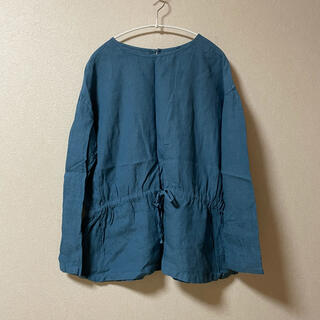 IDEE - IDEE POOL いろいろの服 無印良品 リネン ブラウス ブルー