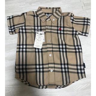 futafuta - バースデイ しまむら 新品タグ付き ポロ 半袖シャツ チェックシャツ