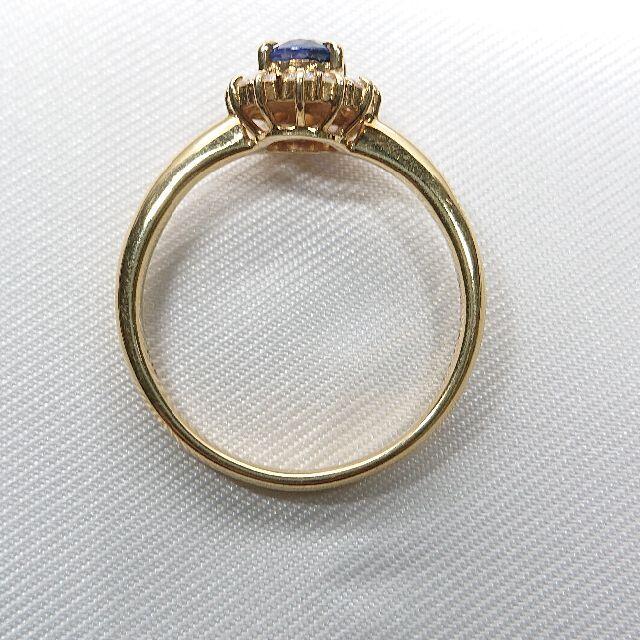 K18 サファイア ダイヤモンド リング レディースのアクセサリー(リング(指輪))の商品写真