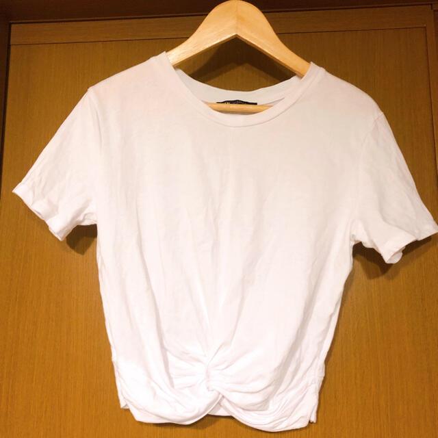 ZARA(ザラ)のZARA 白半袖Tシャツ size S レディースのトップス(Tシャツ(半袖/袖なし))の商品写真