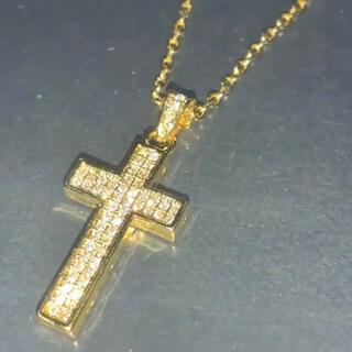 【送料込み】クロス CZダイヤ ネックレス ゴールド 通常価格 ¥10,980-