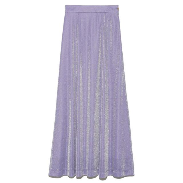 Lily Brown(リリーブラウン)のLily Brown グリッターAラインスカート レディースのスカート(ロングスカート)の商品写真