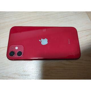 iPhone - ★美品 iPhone11 64GB RED SIMロック解除 バッテリー100%