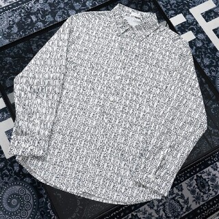 ディオール(Dior)のシルクフルロゴプリント長袖シャツ(シャツ)