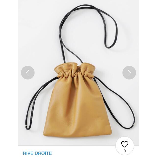 リブドロワ RIVE DROITE ショルダーバッグ 巾着 美品 完売品 レディースのバッグ(ショルダーバッグ)の商品写真