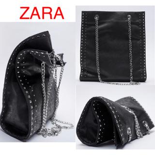 ZARA - (新品) ZARA スタッズ付きトートバッグ ZARAバッグ