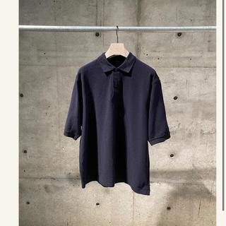 コモリ(COMOLI)のコモリ comoli 鹿の子 ポロシャツ ネイビー 20SS サイズ2(ポロシャツ)