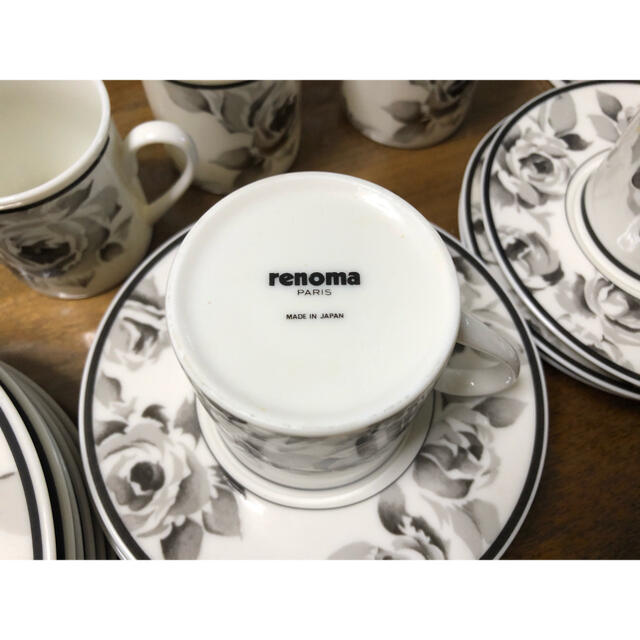 RENOMA(レノマ)の美品 renoma レノマ コーヒーカップ ソーサー 6客 インテリア/住まい/日用品のキッチン/食器(食器)の商品写真