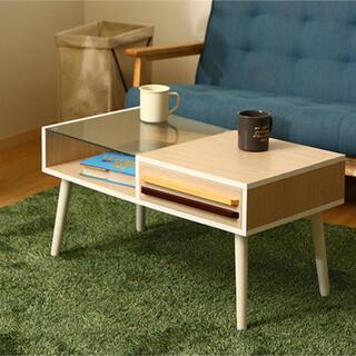 リビングテーブル オスロ ホワイトウォッシュ(ローテーブル)