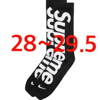 シュプリーム(Supreme)のSupreme Nike Crew Socks 28~29.5cm 靴下 黒(ソックス)