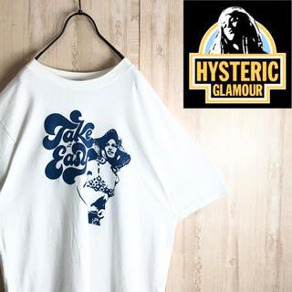 ヒステリックグラマー(HYSTERIC GLAMOUR)のhystericglamour ヒステリックグラマー Tシャツ デカロゴ 美品(Tシャツ/カットソー(半袖/袖なし))