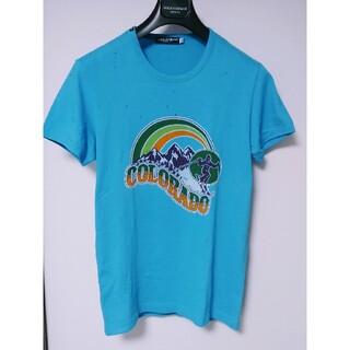 ドルチェアンドガッバーナ(DOLCE&GABBANA)のドルチェ&ガッバーナ 半袖カットソー ブルー 48 グッチ プラダ ルイヴィトン(Tシャツ/カットソー(半袖/袖なし))
