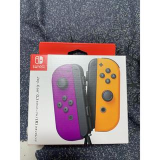 ニンテンドースイッチ(Nintendo Switch)のニンテンドースイッチ ジョイコン パープル オレンジ 新品、未開封(その他)
