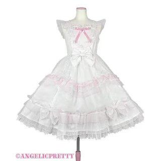 Angelic Pretty - トッピングハートジャンパースカート 白