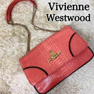 ヴィヴィアンウエストウッド(Vivienne Westwood)の美品 ヴィヴィアンウエストウッド ショルダーバッグ クロコ オーブ チェーン(ショルダーバッグ)