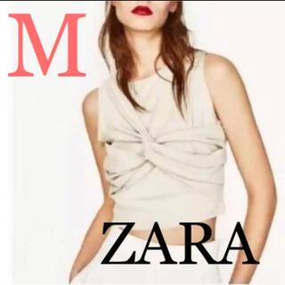 ZARA - ZARA スエード風 デザイントップス ノースリーブ
