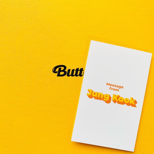 防弾少年団(BTS)(ボウダンショウネンダン)のBTS 防弾少年団 Butter ジョングク グク トレカ メッセージカード エンタメ/ホビーのCD(K-POP/アジア)の商品写真