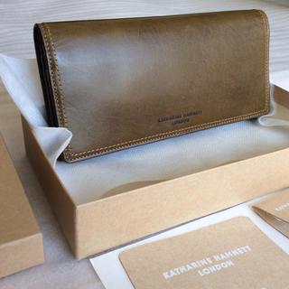 キャサリンハムネット(KATHARINE HAMNETT)の新品 1.5万 キャサリンハムネット 財布 レザー 長財布 未使用 箱付き(長財布)