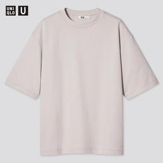 UNIQLO - UNIQLO エアリズムコットンオーバーサイズTシャツ(5分袖)