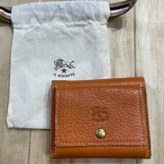 IL BISONTE - 新品 IL BISONTEイルビゾンテ レザーウォレット 三つ折財布 イタリア製