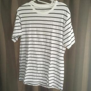 ムジルシリョウヒン(MUJI (無印良品))の無印良品 Tシャツ 白×ダークネイビー(Tシャツ/カットソー(半袖/袖なし))