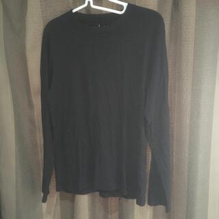 ムジルシリョウヒン(MUJI (無印良品))の無印良品 長袖Tシャツ 黒(Tシャツ/カットソー(七分/長袖))