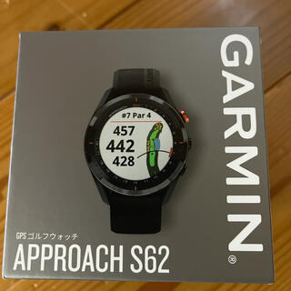 ガーミン(GARMIN)の21年7月購入 Garmin Approach S62 保証書付 黒(その他)