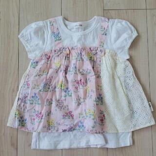 KP - 【美品】KP ニットプランナー×ミミちゃん重ね着風半袖Tシャツ 120cm