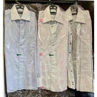 麻布テーラーLサイズ48特注&既製ワイシャツ8枚セット クリーニング済