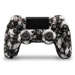 PS4 ワイヤレスコントローラー レアカラー スカルホワイト 骸骨白色 ガラコン