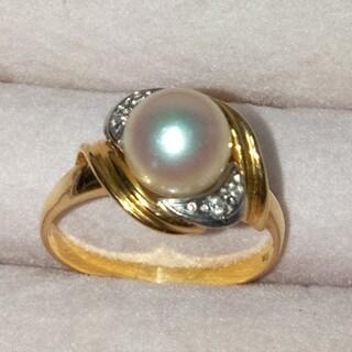 タサキ(TASAKI)のK18パールダイヤリングです!(リング(指輪))