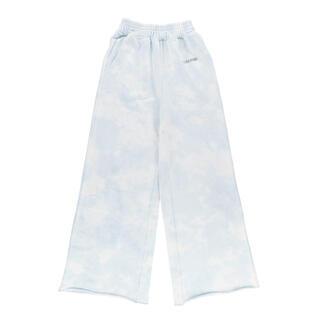 アリシアスタン(ALEXIA STAM)のLogo Tie Dye Wide Leg Sweat Pants Blue(カジュアルパンツ)