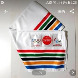 コカ・コーラ - ☆(p^-^)尸『頑張れ日本』東京オリンピック2020 フェイスタオル 横縞