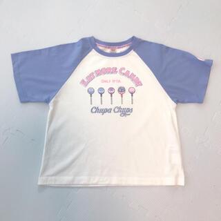 メゾピアノジュニア(mezzo piano junior)の【美品】Mezzo Piano メゾピアノ チュッパチャプスコラボ Tシャツ(Tシャツ/カットソー)
