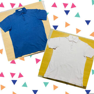 GLOBAL WORK - GLOBAL WORK グローバルワーク ポロシャツ 2枚 ライトピンク ブルー