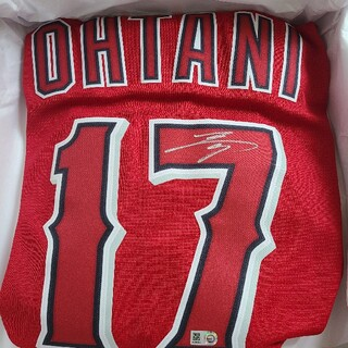 NIKE - MLB公式証明付き 大谷翔平選手 直筆サインユニフォーム ナイキ 赤 エンゼルス