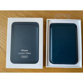 アップル(Apple)のApple Magsafe対応 iPhoneレザーウォレット バルティックブルー(その他)