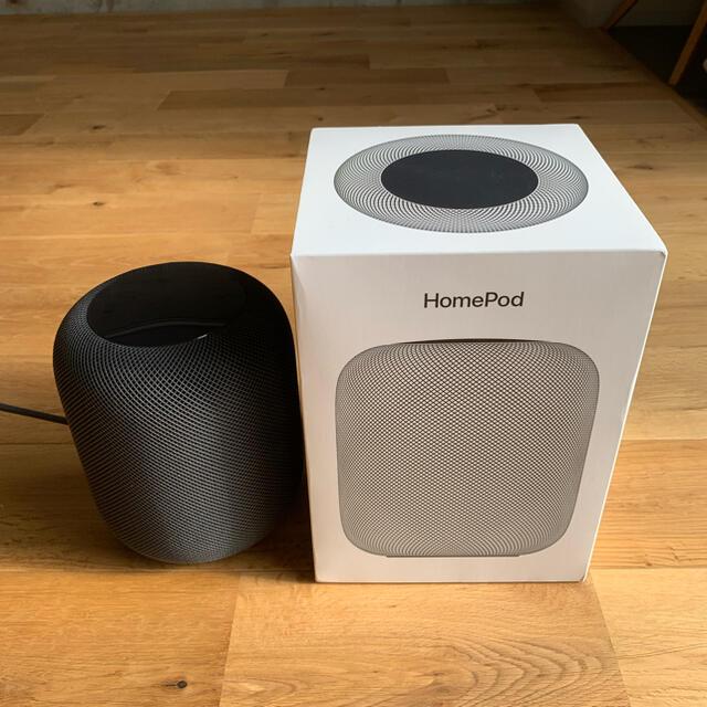 Apple(アップル)のApple HomePod スペースグレー スマホ/家電/カメラのオーディオ機器(スピーカー)の商品写真