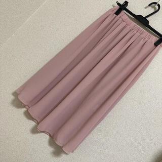 ノーブランド シフォンスカート くすみピンク ロペピクニック ミッシュマッシュ