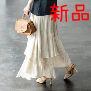 Noble - 新品◆ノーブル ランダムティアードロングスカート  NOBLE