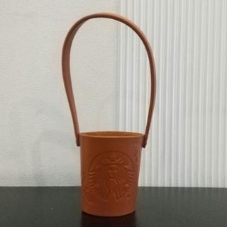 スターバックスコーヒー(Starbucks Coffee)の【新品】Starbucks スターバックス レザーカップホルダー 2020秋限定(ノベルティグッズ)