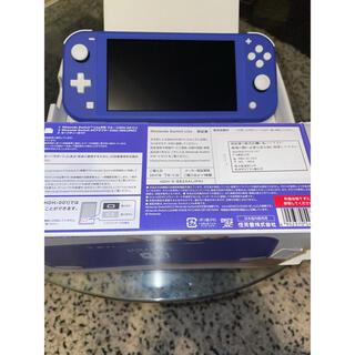 ニンテンドースイッチ(Nintendo Switch)のNintendo Switch Lite ブルー 極美品(携帯用ゲーム機本体)