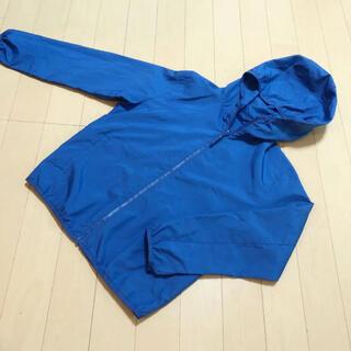 ユニクロ(UNIQLO)のユニクロ ポケッタブル パーカー ブルー 130(ジャケット/上着)