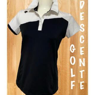 デサント(DESCENTE)の美品⛳️デサントゴルフ 半袖ポロシャツ レディース ゴルフウェア(ウエア)