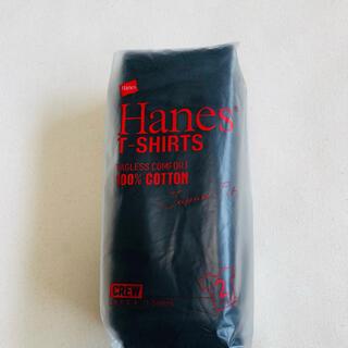 Hanes - HanesヘインズクールネックTシャツ ジャパンフィット 2枚入り 黒Lサイズ