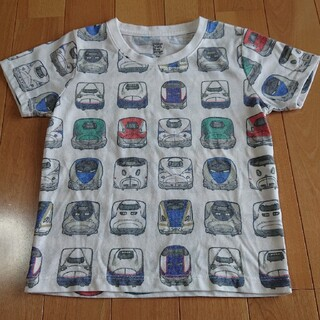 Design Tshirts Store graniph - グラニフ サイズ100 でんしゃのずかん 新幹線 電車 子鉄 はやぶさ こまち