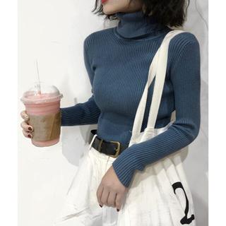 【Girly Doll】リブ タートルネックプルオーバー(Tシャツ(長袖/七分))